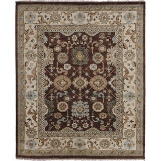Indo Oushak Dilshad Brown Rug (8'4 x 10'2)