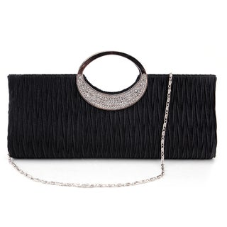 Diamante Ring Frill Handbag Clutch