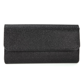 Grainy Flap-over Evening Small Clutch Crossbody Handbag