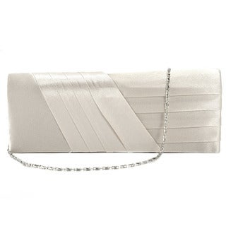 Satin Pleated Wedding Party Clutch