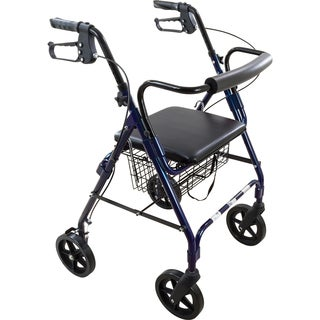Roscoe Deluxe Aluminum Rollator with Padded Seat