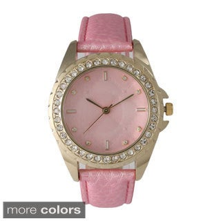 Olivia Pratt Women's Quilted Face Band Watch