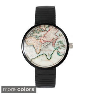 Olivia Pratt Women's Vintage Map Stretch Band Watch