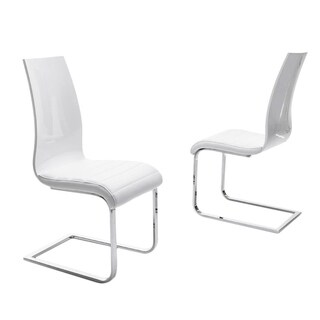Luca Home White Modern Dining Chair (Set of 2)
