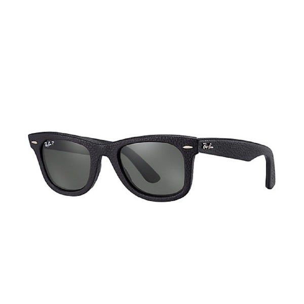 4c83c8d407 Shop Ray-Ban Wayfarer Leather RB2140QM Unisex Black Frame Green Lens  Sunglasses - Free Shipping Today - Overstock.com - 10332825