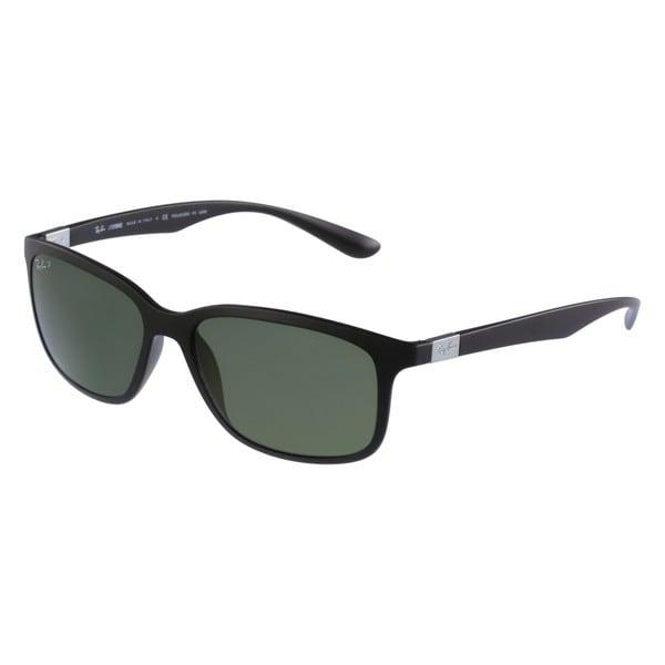 1fa1c6ab33 Shop Ray-Ban RB4215 Liteforce Rectangle Matte Dark Blue Sunglasses ...