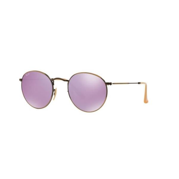 ray ban flash lenses sunglasses  ray ban rb3447 round flash lilac mirror lenses sunglasses
