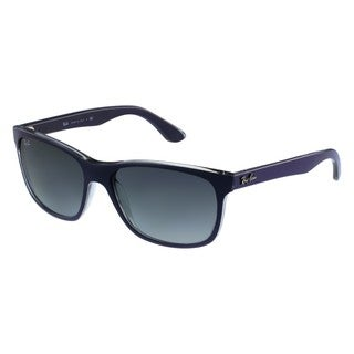 e68e06636f Shop Ray-Ban RB4181 Blue Grey Square Wayfarer Sunglasses - Free Shipping  Today - Overstock - 10332838