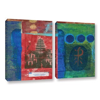 ArtWall Elena Ray ' Magenta Orchid 2 Piece ' Gallery-Wrapped Canvas Set