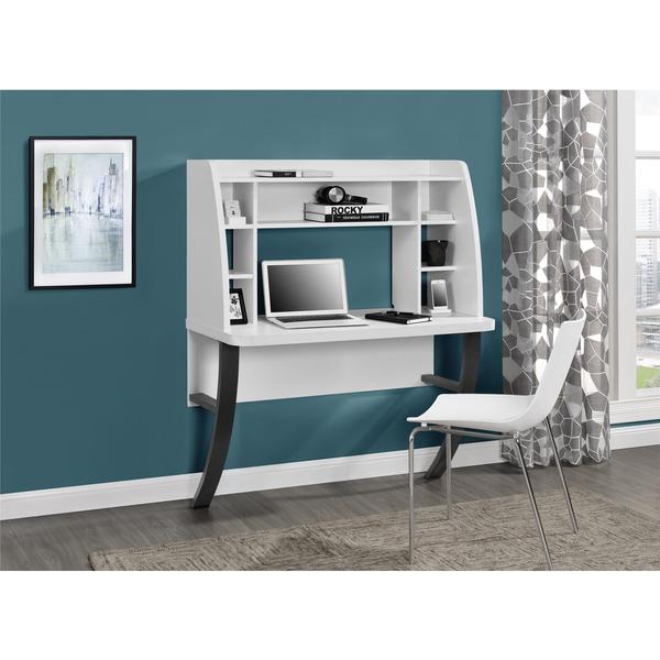 Shop Ameriwood Home Eden White Wall Mounted Desk Free Shipping
