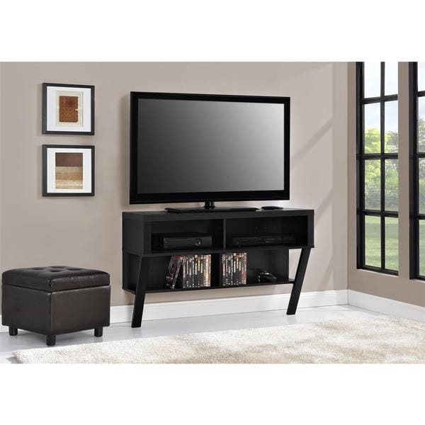 Shop Ameriwood Home Black Oak Wall Mounted 42 Inch Tv Stand Free