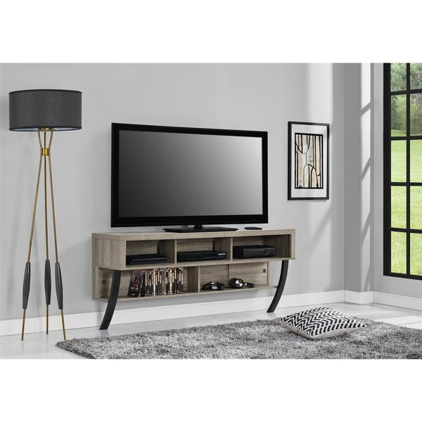 Avenue Greene Yale Wall Mounted Weathered Oak Tv Stand For Tvs Up To 65 Inches