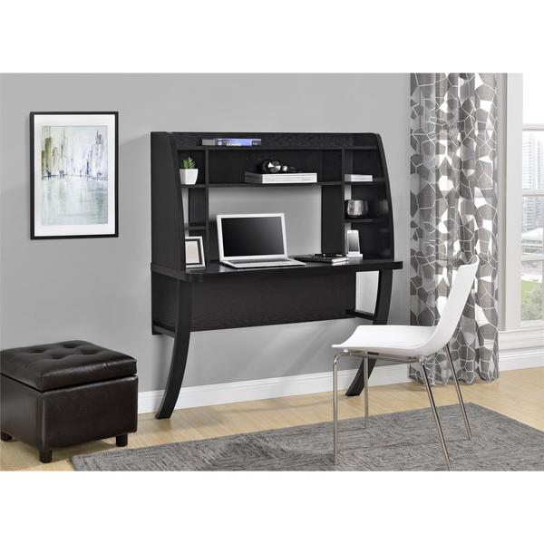 ameriwood home eden black oak wallmounted desk