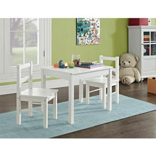 Altra Hazel Kid's White 3-piece Table and Chair Set by Cosco
