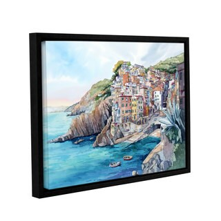 ArtWall Bill Drysdale ' Riomaggiore ' Gallery-Wrapped Floater-Framed Canvas - multi