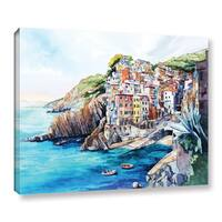 ArtWall Bill Drysdale ' Riomaggiore ' Gallery-Wrapped Canvas - Blue