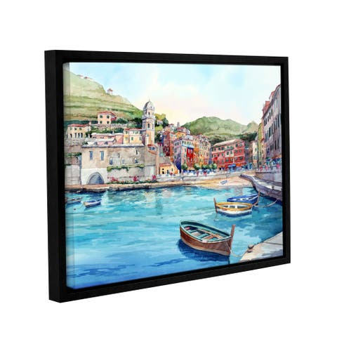 ArtWall Bill Drysdale ' Vernazza ' Gallery-Wrapped Floater-Framed Canvas - multi