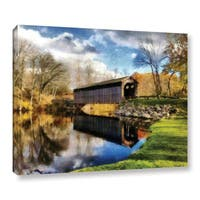 ArtWall Kevin Calkins ' Covered Bridge Reflections ' Gallery-Wrapped Canvas