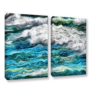 ArtWall Kevin Calkins ' Cresting Waves 2.0 2 Piece ' Gallery-Wrapped Canvas Set