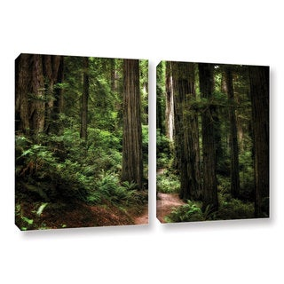 ArtWall Kevin Calkins ' Enchanted Path 2 Piece ' Gallery-Wrapped Canvas Set