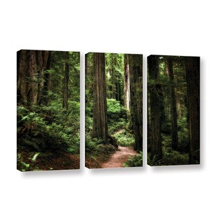 ArtWall Kevin Calkins ' Enchanted Path 3 Piece ' Gallery-Wrapped Canvas Set