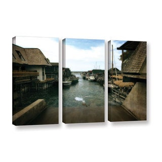 ArtWall Kevin Calkins ' Fishtown 3 Piece ' Gallery-Wrapped Canvas Set