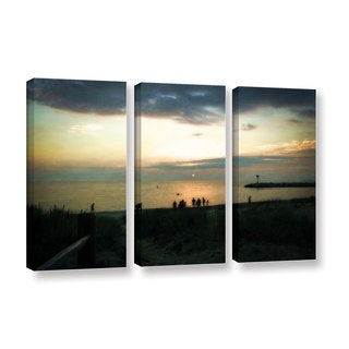 ArtWall Kevin Calkins ' Last Night 3 Piece ' Gallery-Wrapped Canvas Set
