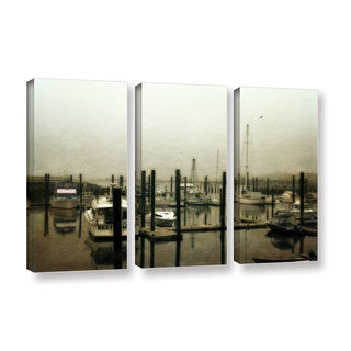ArtWall Kevin Calkins ' Low Tide 3 Piece ' Gallery-Wrapped Canvas Set