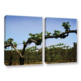 ArtWall Kevin Calkins ' Spring Vineyard 2 Piece ' Gallery-Wrapped Canvas Set