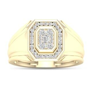 De Couer 10k Yellow Gold 1/2ct TDW Diamond Men's Ring
