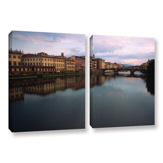 ArtWall Kathy Yates 'Florence Memories' 2 Piece Gallery-wrapped Canvas Set