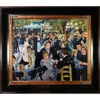 Auguste Renoir 'Dance at the Moulin de la Galette' Hand Painted Framed Canvas Art