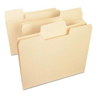 Smead Manila Letter SuperTab File Folders (Box of 100)
