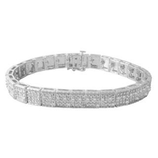 Divina Rhodium-plated Brass 1ct TDW Diamond Bracelet (I-J, I2-I3)