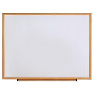 Universal One Oak Frame Dry Erase Board