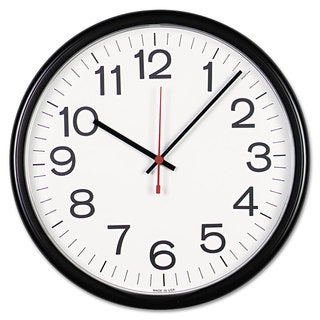 Universal Black Indoor/Outdoor Clock