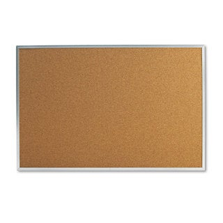 Universal 36 x 24 Natural Cork Bulletin Board