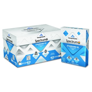 Georgia Pacific Spectrum Standard 92 Multipurpose White Paper, 20lb (8 1/2 x 11) (5,000 Sheets per Carton)