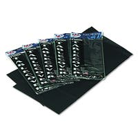 Tablemate Black Heavyweight Rectangular 54 x 108 Plastic Table Cover Table Set (Pack of 6)