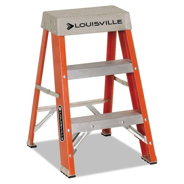 Louisville Fiberglass Orange Heavy Duty Step Ladder