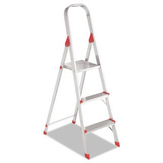 Louisville #566 Three-Step Folding Aluminum Euro Platform Ladder