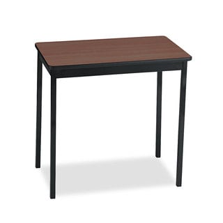 Barricks Walnut/Black Rectangular 30w x 18d x 30h Utility Table