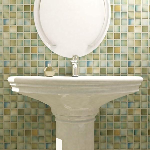 Shop Somertile 125x125 Inch Knight Delta Porcelain Mosaic Floor