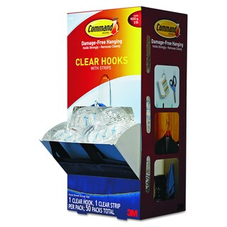 Command Medium Clear Plastic Hooks & Strips (50 Hooks and Strips)