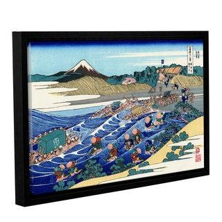 ArtWall Katsushika Hokusai 'The Fuji From Kanaya On The Tokaido' Gallery-wrapped Floater-framed Canvas