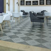 SomerTile 17.63x17.63-inch Royals Rombos Ceramic Floor and Wall Tile (5 tiles/11.1 sqft.)