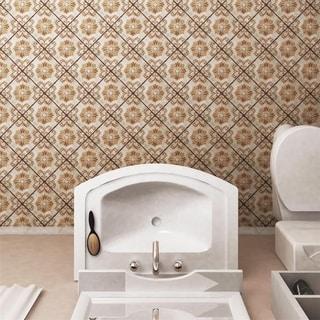 SomerTile 7.75x7.75-inch Gavras Arena Dcor Fleur Ceramic Floor and Wall Tile (Case of 25)
