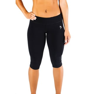 Women's Black Cropped Running Pants