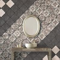 SomerTile 7.75x7.75-inch Gavras Graffito Ceramic Floor and Wall Tile (25 tiles/11.5 sqft.)