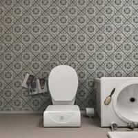 SomerTile 7.75x7.75-inch Gavras Cendra Decor Fleur Ceramic Floor and Wall Tile (25 tiles/11.5 sqft.)